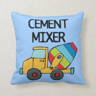 Colorful Cement Mixer Throw Cushions
