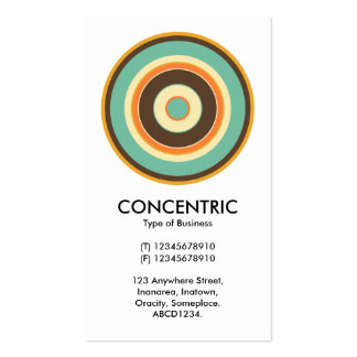 Colorful Concentric Circle 02 Pack Of Standard Business Cards