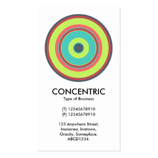 Colorful Concentric Circle 04 Pack Of Standard Business Cards