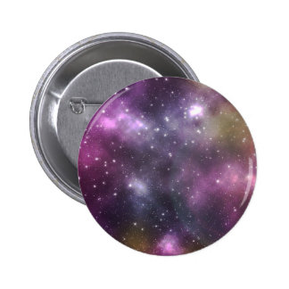 Colorful Cool Nebula and Stars in Space 6 Cm Round Badge