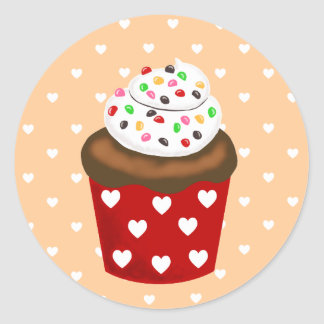 Colorful Cupcake Round Sticker