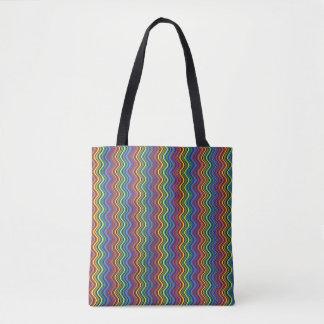 Colorful Curves Tote Bag