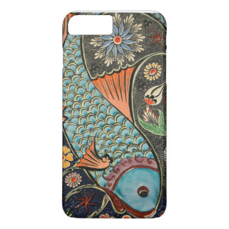 Colorful Decorative Mosaic Flowers Fish Art Design iPhone 7 Plus Case
