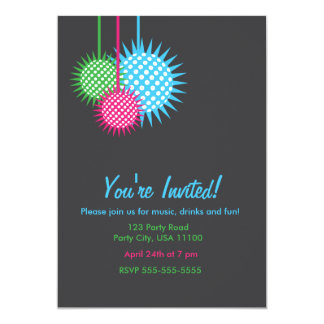 Colorful Disco Ball Party 13 Cm X 18 Cm Invitation Card