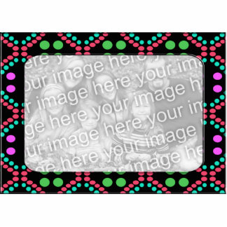 colorful dots photo frame standing photo sculpture