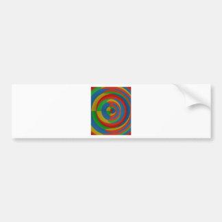 colorful eyecatching design bumper sticker