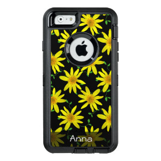 Colorful Flowers on any Color any Text OtterBox iPhone 6/6s Case