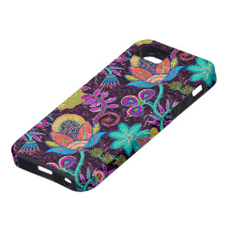 Colorful Glass Beads Look Retro Floral Design Case For The iPhone 5