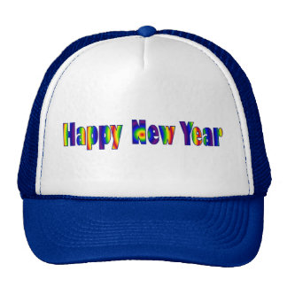 Colorful Happy New year Cap