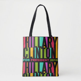 Colorful Hillary Clinton 2016 bags Tote Bag