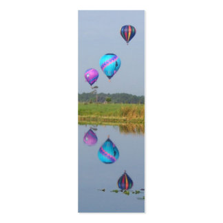 Colorful Hot Air Balloons bookmarks Pack Of Skinny Business Cards