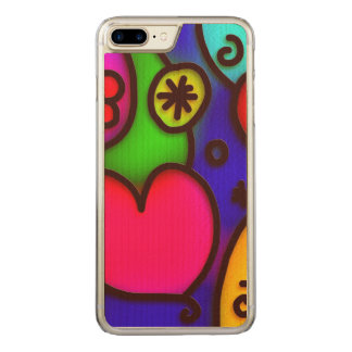 colorful modern love 2 carved iPhone 7 plus case