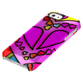colorful modern love permafrost® iPhone SE/5/5s case