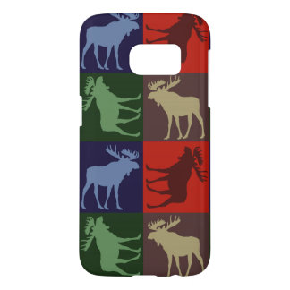 Colorful moose pattern Samsung Galaxy S7 case