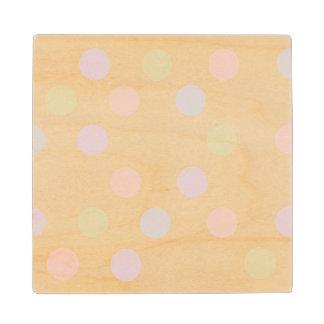 Colorful polka dots Wooden Coaster Maple Wood Coaster