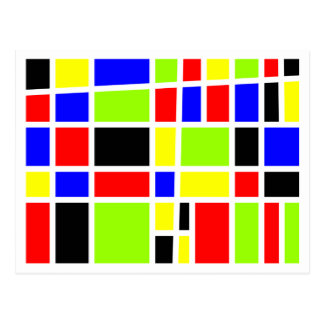 Colorful Rectangles Postcard