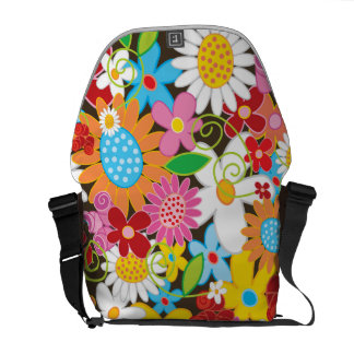 Colorful Spring Flowers Garden Nature Art Bag Commuter Bags