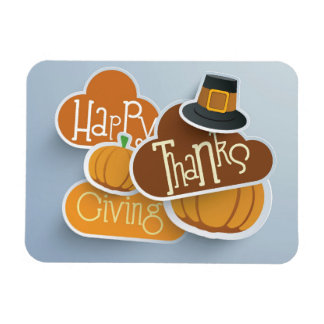 Colorful Sticker, Tags Or Labels For Happy Rectangular Photo Magnet