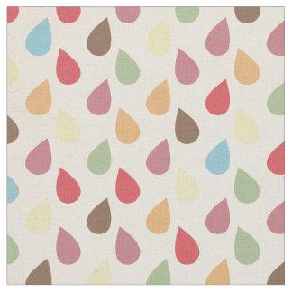 Colorful Teardrop, Raindrop Pattern Fabric