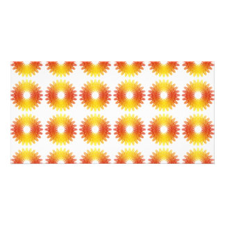 Colorful wheel gear pattern picture card
