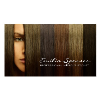 Colorful Woman Hair Haircut Stylist Card Pack Of Standard Business Cards