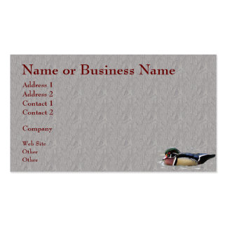 Colorful Wood Duck Business or Profile Card Pack Of Standard Business Cards