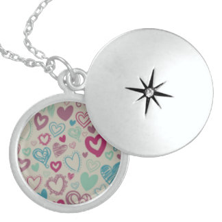 Colorfull Sterling Silver Round Locket