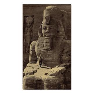 Colossal Figure, Abu Sunbul, Egypt circa 1856 Pack Of Standard Business Cards