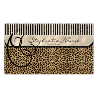 Comb and Curls Leopard Pack Of Standard Business Cards