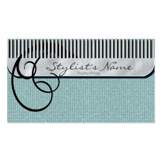 Comb and Curls Mint Green Pack Of Standard Business Cards