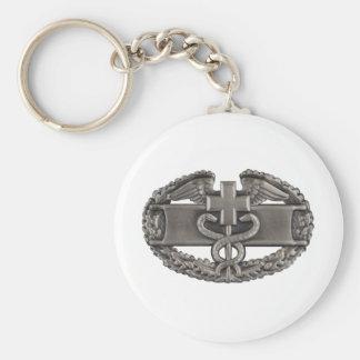 Combat Medic Basic Round Button Key Ring