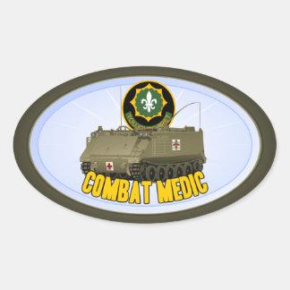Combat Medic Oval Sticker