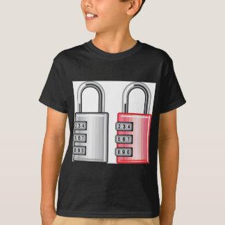 Combination lock vector tshirt