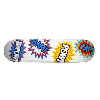 Comic Book Pow! Bursts 21.3 Cm Mini Skateboard Deck