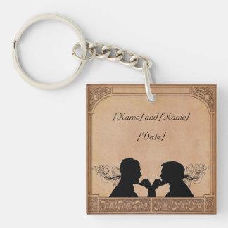 Commitment Ceremony Custom Key Chain Favors