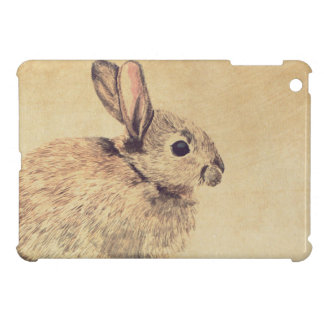 Common Rabbit Watercolour Sketch iPad Mini Case