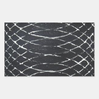 Concentric Black Ripples (black minimalism) Rectangular Sticker