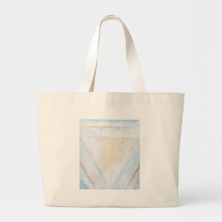 Concentric Inverted White Equilateral Triangles Jumbo Tote Bag