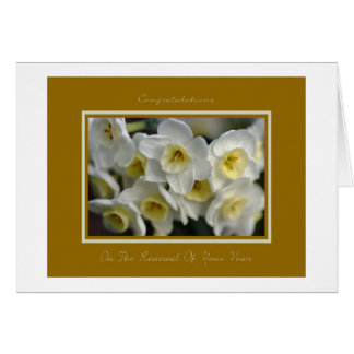 Congratulatiions On Tthe Renewal Of Your Vows Greeting Card