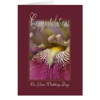 Congratulation On Your Wedding Day - Iris Flower Greeting Card