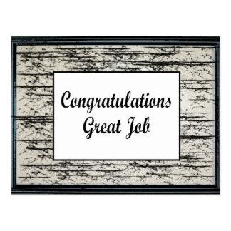 Congratulations Great Job Postcard
