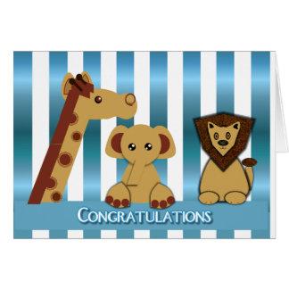 Congratulations, New Baby Boy Greeting Card