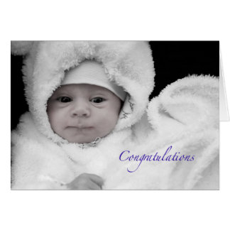 Congratulations on the Birth of a Baby Boy Greeting Card