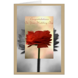 Congratulations On Your Wedding Day - Flower Greeting Card