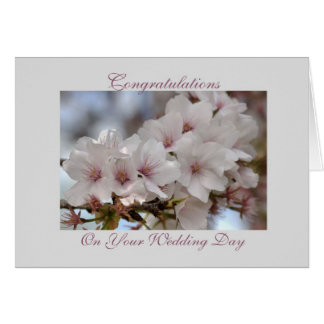 Congratulations On Your Wedding Day - Flowers Greeting Card