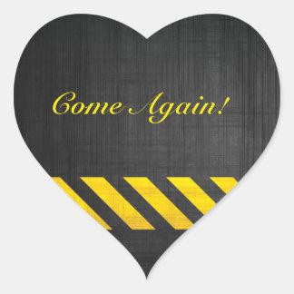 Construction Heart Sticker