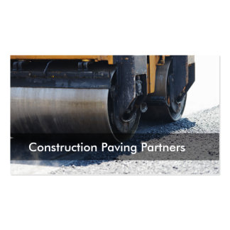 Construction Paving Pack Of Standard Business Cards