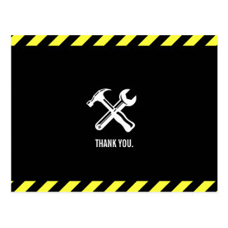 Construction Project Custom Thank You Postcard