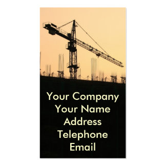 Construction Site with Large Crane Pack Of Standard Business Cards