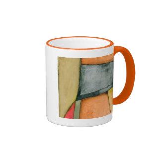 Contemporary Colorful Geometric Shapes Ringer Mug